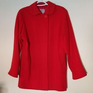 Pendleton Bright Red Petite Vintage Jacket